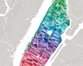 New York City Pantone Map