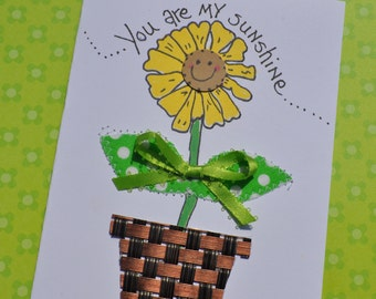 African American Encouagement Greeting Card -You Are My Sunshine
