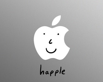 Happle Decal Laptop Sticker for Apple MacBook / Pro / Air