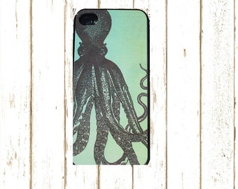Octopus Cell Phone Case for Iphone 55/s and 4/4S, Iphone 6/6S Octopus phone case, Unique Cell phone Case, Octopus Phone Cover.