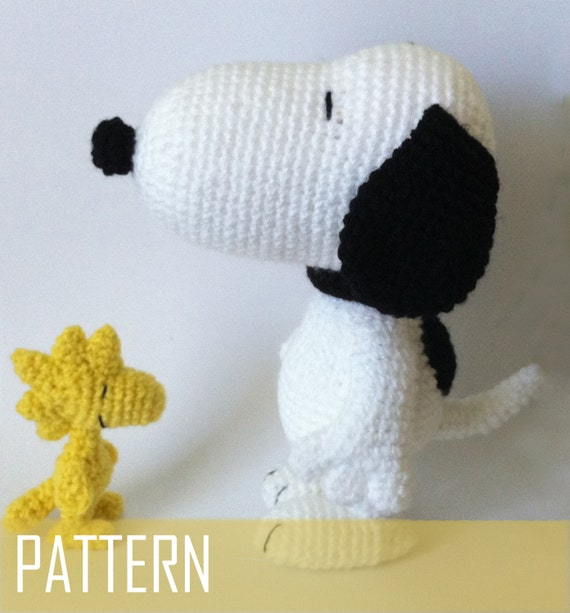 Amigurumi Woodstock Pattern : PDF CROCHET PATTERN Snoopy and Woodstock Inspired Amigurumi