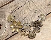 Bronze filigree collar