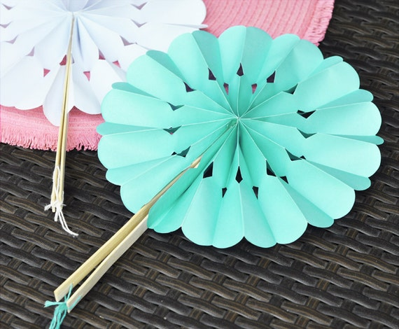 Paper Hand Fans For Weddings