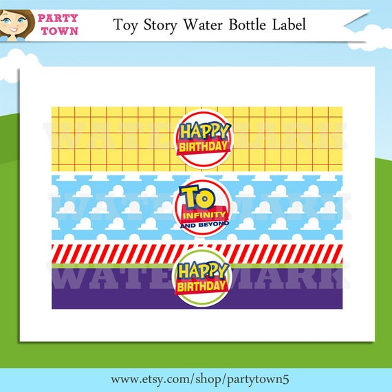 Toy Story Water Bottle Labels / Toy Story Labels / Toy Story Birthday ...