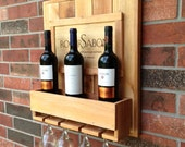 Wine Rack Rustic Cedar Wood / wall decor - CajunHands