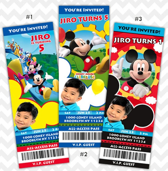Similiar Mickey Mouse Clubhouse Birthday Invitations Keywords – Mickey Mouse Clubhouse Birthday Invites