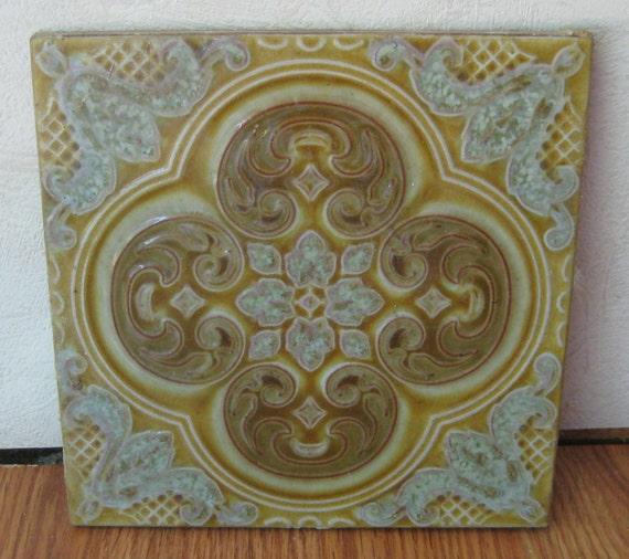 Items similar to vintage italian sassuolo ceramic tile by la campanella made in italy on etsy - Sassuolo italia ...