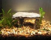 SALE 10% OFF! 3 Piece Tan and Grey Slate Rock Cave Aquarium Decoration