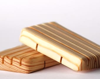 Pine Wood Soap Dish - Handcrafted - Water Proof  - for Soap Bars