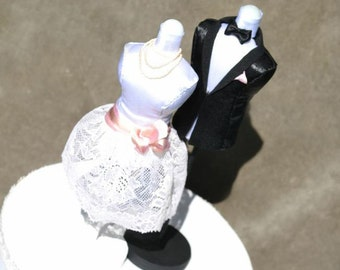 Cake Topper....Mini Mannequin Bride and groomI.... will make this item for your order