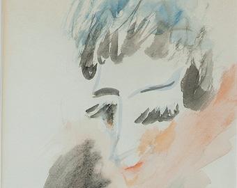 Judy Garland watercolor painting