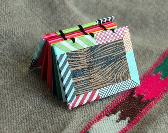 Funky Faux Bois Rainbow Mini Bound Book