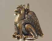 GRIFFIN designer bronze pendant - ready to ship