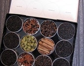 DIY chai tea kit with organic and fair trade spices - set of 12 -  a perfect gift to warm up a tea lover.
