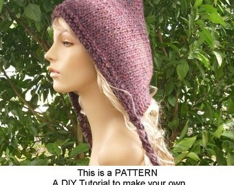 Instant Download Knitting Pattern - Knit Hat Knitting Pattern - Knit Hat Pattern for Spring Pixie Hat - Womens Hat - Womens Accessories