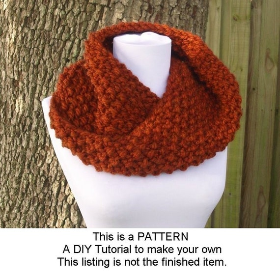 Instant Download Knitting Pattern PDF - Knit Cowl Pattern Knit Scarf Pattern Chunky Mobius Cowl Pattern - Womens Accessories