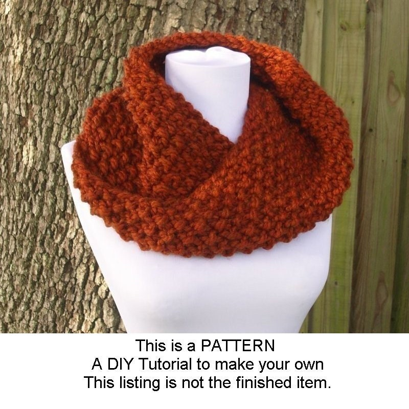 Knit Flower Pattern Free : Instant Download Knitting Pattern PDF Knit Cowl Pattern Knit