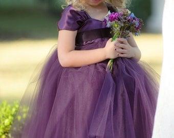 Flower Girl Dress Purple