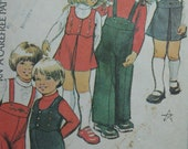 McCall's 4161, 1970s child's jumper, overalls, vest, and top, vintage pattern