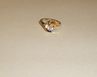 1980s Park Lane Solitare ring (size 6.5) Very Good Condition