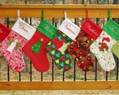 DIY Holiday - Christmas Stocking Patterns - Elf and Traditional - Sewing PDF