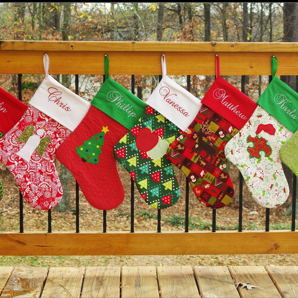 Diy Holiday Christmas Stocking Patterns Elf And