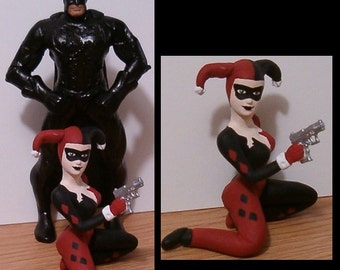Superhero & Bad Girl Custom Wedding Cake Topper - You Personalize It - Can Be Made to Look Like You