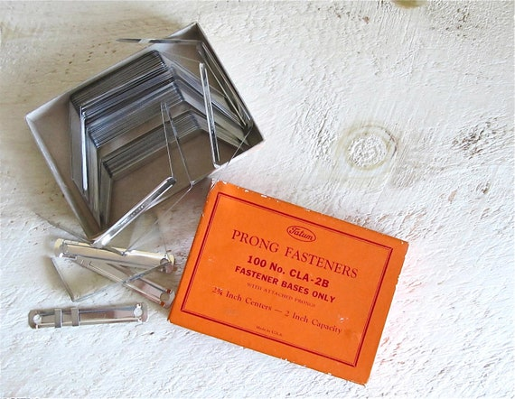 Vintage Prong Fasteners