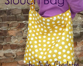 PDF Sewing Pattern - Aivilo Slouch Bag - Easy purse to sew, great project for beginners - download instantly