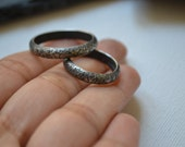 We have shared - wedding band set - Sterling silver wedding rings