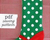 PDF Mary Jane Christmas Stocking Pattern