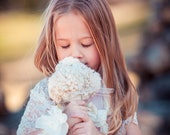 Small Fabric Flower Bouquet - Wedding, Vintage Wedding - Fabric Bouquet, Fabric Flower, Junior Bridesmaid Fabric Bouquet