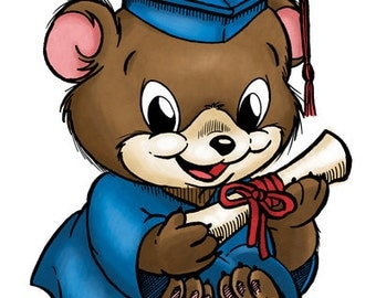 Bear Grad  (DIGI STAMP)