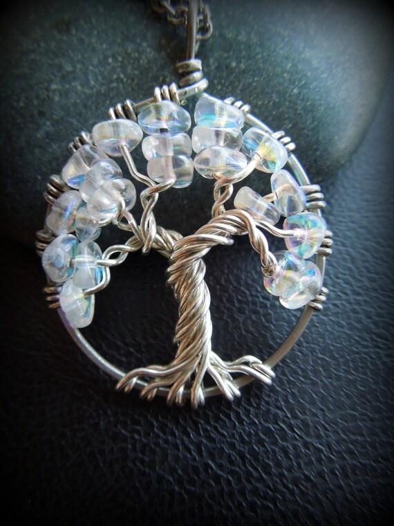 U7 Brand Tree of Life Charms Pendant Necklace Rhinestone