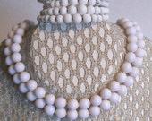Milky White Bead Baubles Choker and Bracelet
