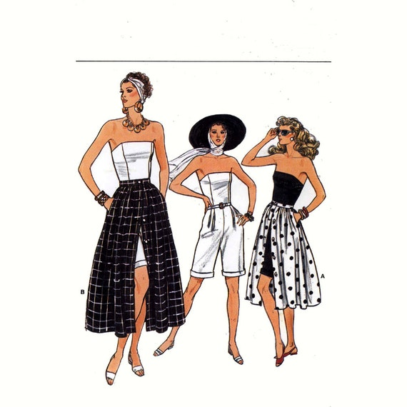 Romper Skirt and jumpsuit vintage sewing pattern Vogue 9952 Bust 34 to 38