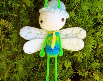 Business Dragonfly Amigurumi bendable Doll