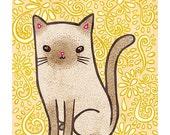Fancy Cat 5x7 Illustration Print
