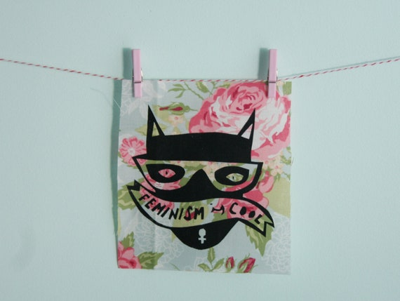 Cool Cat Patch in Floral