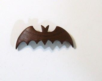 Bat Wooden Hair Clip Made Of Mahogany Wood