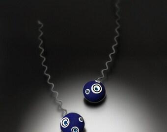 Deep blue drops