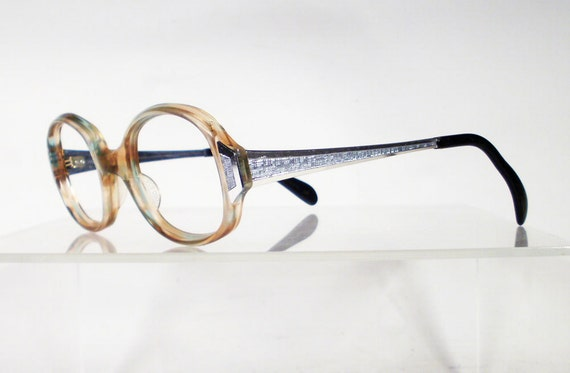 Clearance UNIVERSAL Light Tortoise and Silver Vintage Eyeglass Frames