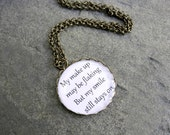 Freddie Mercury Queen Necklace - Song Lyrics Necklace - Music Jewelry - Music Lover Gift (N040)