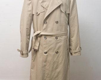Men's Overcoat / Vintage Christian Dior Tan Jacket / Size 44 X-Long