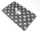 Dark Gray and White Polka Dots Light Switch Cover Switch Plate Bedroom Decor