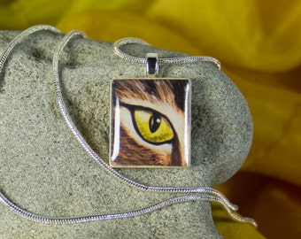 Cat Eye Pendant with Chain