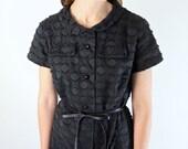 1940s Dress • Knee Length Dress • Black Dress • Peter Pan Collar Dress • Little Black Dress • Polka Dot Dress • Art Deco Dress • 40s Dress