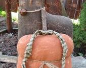 Black Cat & Pumpkin EPATTERN - primitive halloween fall cloth doll craft digital download sewing pattern -PDF - 1.99