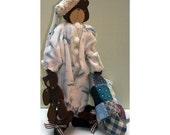 Roger Handmade Country Bear Doll Woodcraft