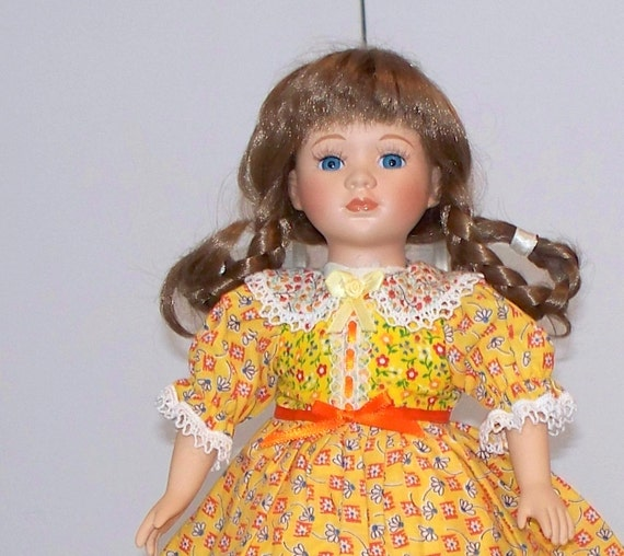 12 inch doll clothes - Sunny yellow dress fits 12 inch doll